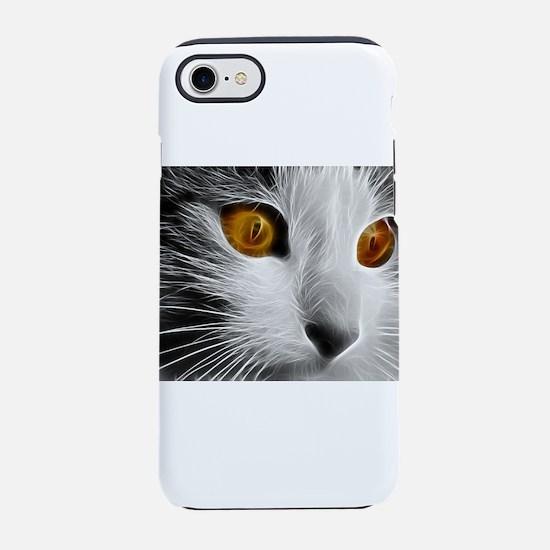 black & white cat iPhone 8/7 Tough Case
