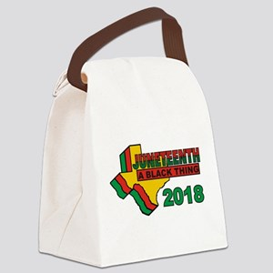 """Juneteenth: A Black Thing"" Canvas Lunch Bag"