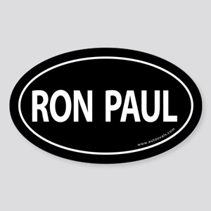 Ron Paul 2008 Traditional Sticker -Black (Oval)