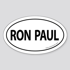 Ron Paul 2008 Traditional Sticker -White (Oval)