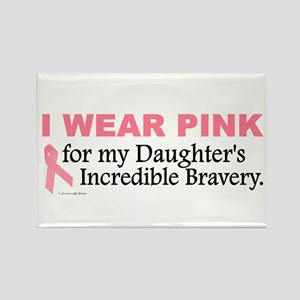 Pink For My Daughter's Bravery 1 Rectangle Magnet