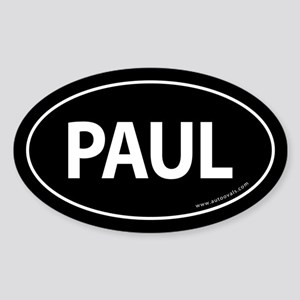 Paul 2008 Traditional Sticker -Black (Oval)