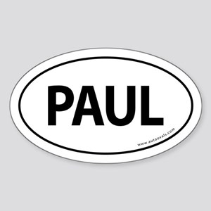 Paul 2008 Traditional Sticker -White (Oval)