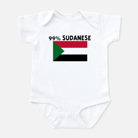 99 PERCENT SUDANESE Infant Bodysuit