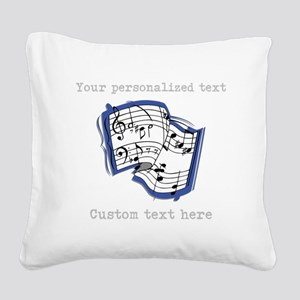 Music Square Canvas Pillow
