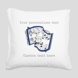 Music Square Canvas Pillow