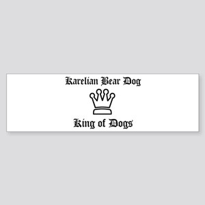 Karelian Bear Dog - King of D Bumper Sticker