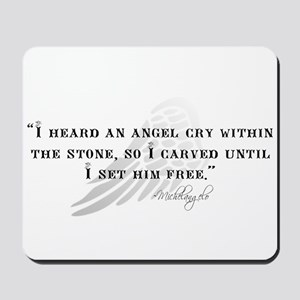 Michaelangelo Angel Quote Mousepad