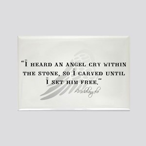 Michaelangelo Angel Quote Rectangle Magnet