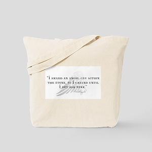 Michaelangelo Angel Quote Tote Bag