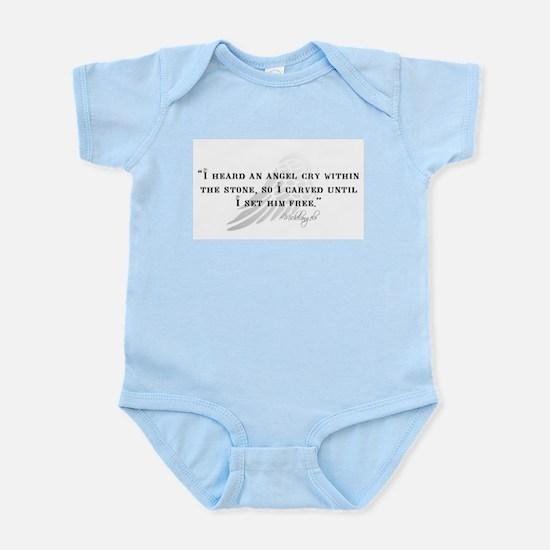 Michaelangelo Angel Quote Infant Bodysuit