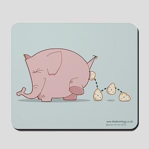 Egg-laying Elephant - Mousepad
