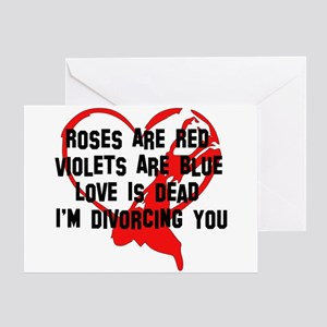 Divorce Announcement Greeting Card