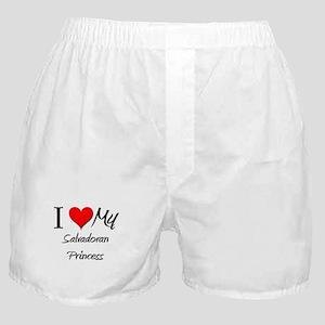 I Love My Salvadoran Princess Boxer Shorts