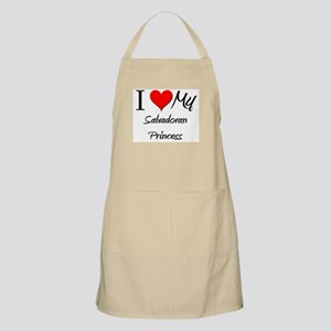 I Love My Salvadoran Princess BBQ Apron