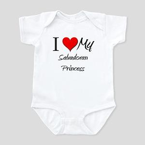 I Love My Salvadoran Princess Infant Bodysuit