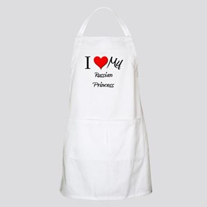 I Love My Russian Princess BBQ Apron