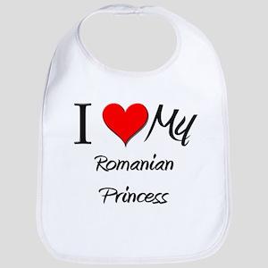 I Love My Romanian Princess Bib