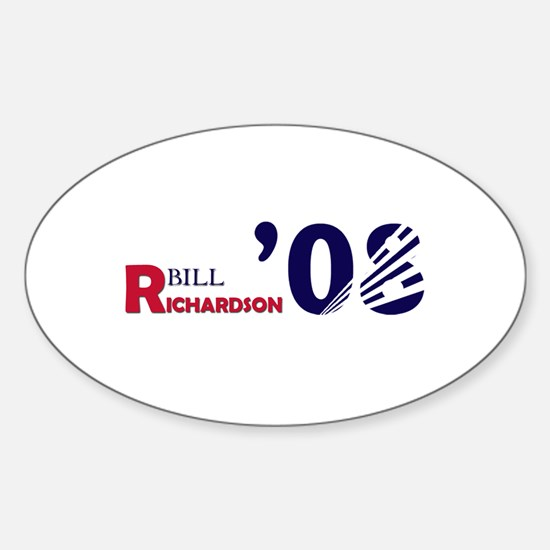 Bill Richardson 08 Oval Decal