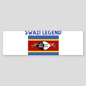 SWAZI LEGEND Bumper Sticker