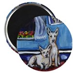 CANAAN DOG art Magnet