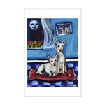 CANAAN DOG art Mini Poster Print