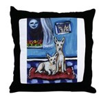 CANAAN DOG art Throw Pillow