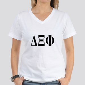 DELTA XI PHI Womens V-Neck T-Shirt