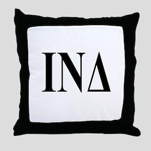 IOTA NU DELTA Throw Pillow
