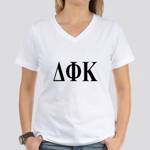DELTA PHI KAPPA Womens V-Neck T-Shirt