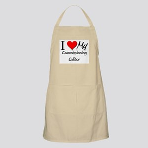 I Heart My Commissioning Editor BBQ Apron