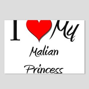 I Love My Malian Princess Postcards (Package of 8)