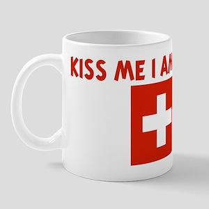 KISS ME I AM SWISS Mug