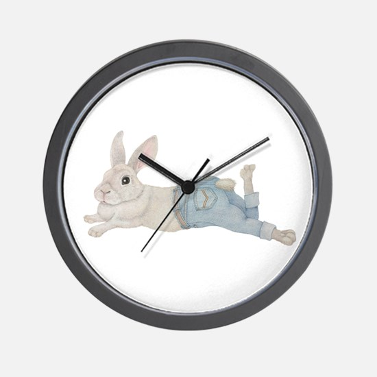 Bunny in Jeans Wall Clock