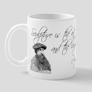 Rodin Thinker and Quote Mug
