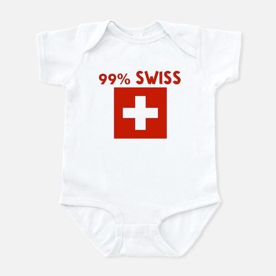 99 PERCENT SWISS Infant Bodysuit