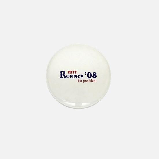Mitt Romney for president 08 Mini Button