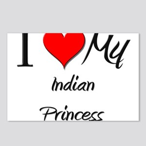 I Love My Indian Princess Postcards (Package of 8)