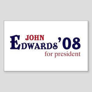 John Edwards for president 08 Sticker (Rectangular