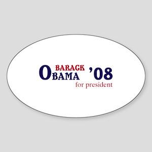 Barack Obama for president 08 Oval Sticker