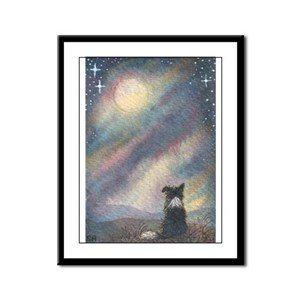 I see the moon... Framed Panel Print