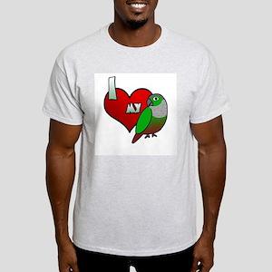 Love Green-Cheeked Conure Light T-Shirt
