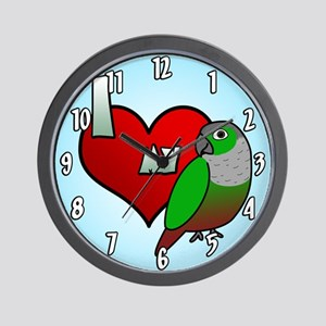 I Love My Green-Cheeked Conure Clock
