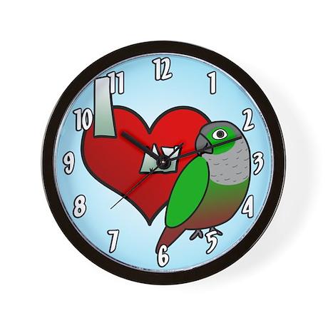 I Love My Green-Cheeked Conure Clock