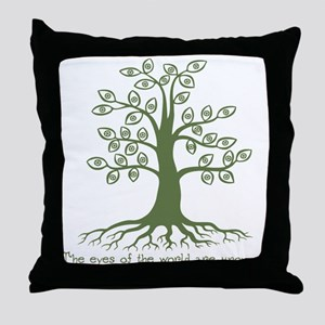 Eyes of the World Throw Pillow