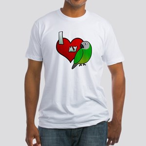 Love Dusky Conure Fitted T-Shirt