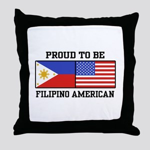 Proud Filipino American Throw Pillow