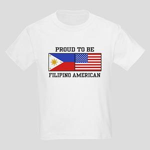 Proud Filipino American Kids Light T-Shirt