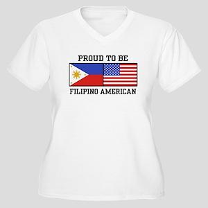 Proud Filipino American Women's Plus Size V-Neck T