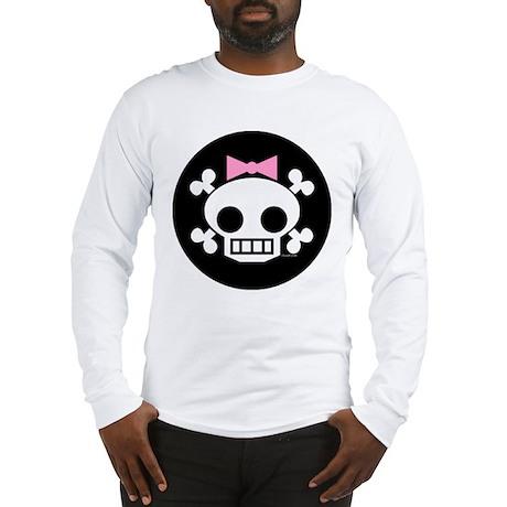 Hair Bow Skull Long Sleeve T-Shirt